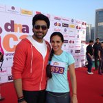My big Bhaiya, 1st co star & super friend..Thx 4 flagging off our run & 4 the kinds words  @juniorbachchan