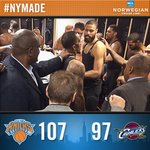 RT @nyknicks: #Knicks come together for big win in Cleveland! Tune in to @MSGNetworks for reaction from the winning locker room. http://t.co/YoHkVWHwFz