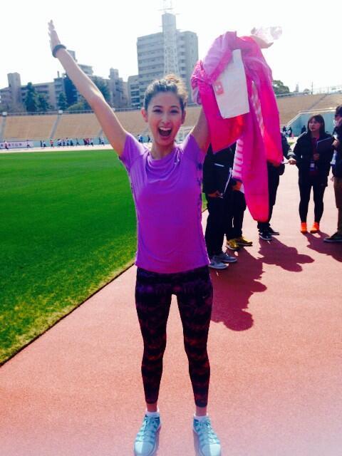 皆さんの応援で頑張れました!!!!  フィニッシュが見えて、スプリントしました!!自分目標は1時間以内だったので、できました!!!  ありがとうございます!!初マラソン大会挑戦、本当に楽しかった! #RUNNAGOYA http://t.co/cjOTQhWtFs