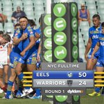 FULL TIME: The Eels beat the Warriors in #NYCparwar 50-24. Great win to start the season! #blueandgold http://t.co/ykiShCeNBP