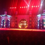 A beautiful view of stage prepared Asias largest #SufiConference #Lahore by #MQM #Pakistan http://t.co/7HR8BFkQWe