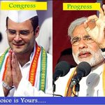 Progress Or Congress ..Choice is yours ...@narendramodi @India272 @BhupendraSinh1 @BJPRajnathSingh http://t.co/rp0U9FAHOe