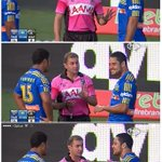 Hayne is amused. #NRLparwar http://t.co/i1vrEvggLc