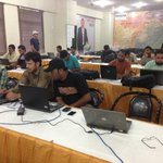 Social Media Camps In Karachi For Live Updates Of The Event On Social Media.#SufiConference #Pakistan #MQM http://t.co/gXLbbbIupq