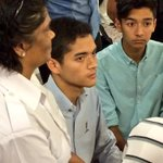 @HishammuddinH2Os two sons hearing the stories from families of #MH370 http://t.co/7qbPrgz44N
