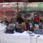 Social Media Camp of #MQM Punjab at #SufiConference in Lahore spreading the message of Islam #Pakistan http://t.co/89375c5SNn
