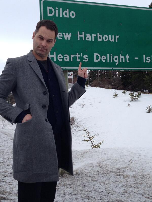 Just passed by Dildo... Newfoundland. http://t.co/GtxclRWwzo