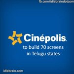 Cinepolis to build 70 screens in Telugu states http://t.co/8MXoCp6vJ7
