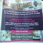RT @ThegHotel: Have you picked up your Sunday Indo @Independent_ie - see our back page competition in the Life Magazine. http://t.co/Eij6PKd3ZJ