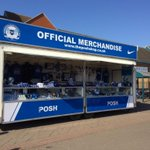 RT @theposhdotcom: Visit the Posh mobile shop outside Serpentine Green in Hampton today and get your Wembley merchandise #pufc http://t.co/sd93HoPiVT