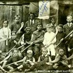 Irish Tricolour flag flown by Dungarvan hurling team c1910. 1st flown by T F Meagher, Waterford City, Mar 7th 1848 http://t.co/Ay1xGBYKEM