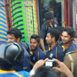 RT @ahamednishadh: The team getting off da bus at SLC.. http://t.co/nxzETv0WCg