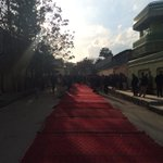 RT @RSkakar: Marshal Fahim residence. People walk through the red Afghan carpet to pay tribute. http://t.co/AwH0FU2h9j