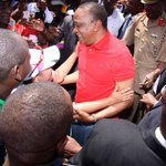 VIDEO: First Lady runs into Uhurus arms, watch via http://t.co/HlWOYeMeIn http://t.co/IK6kR0vFDG