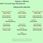 Galway Team Selection #NHL14 Round3 #gaa #NowlanPark changes to the Galway team in the Fullback line. http://t.co/L0qbATcYp0