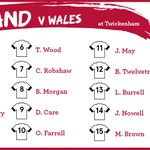 RT @EnglandRugby: 1 hour to kick off. Here is your England team for today. #CarryThemHome #ENGvWAL http://t.co/omVYXacK2l