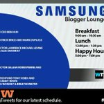 Full #SamsungSXSW Blogger Lounge schedule posted!  #SXSW