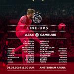 Line-ups #Ajax - Cambuur: #ajacam http://t.co/lX5s1vB5AI