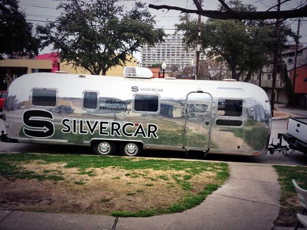 Wandering around Austin at SXSW? Keep an eye out for the @silvercar trailer handing out Tiff's! #streamsohard http://t.co/ZH0wcPyUGD