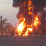 RT @snowfal06: Breaking News:MRS filling station on Lugbe Air port road Abuja on fire @ogundamisi @Backarray http://t.co/E7bJjvDhFH