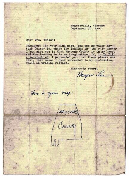 Attn: @LettersOfNote RT @JonnyGeller: Harper Lee explains where her novel came from. http://t.co/DykuB4JdKc