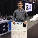 RT @NU_Wrestle: And now with a smile @JasonTsirtsis shows off his #B1GWRE100 hardware. #B1GCats http://t.co/UiJe2Vdhf1