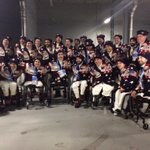 Great shot of the @USParalympics sled #hockey team from the #OpeningCeremony #Paralympics