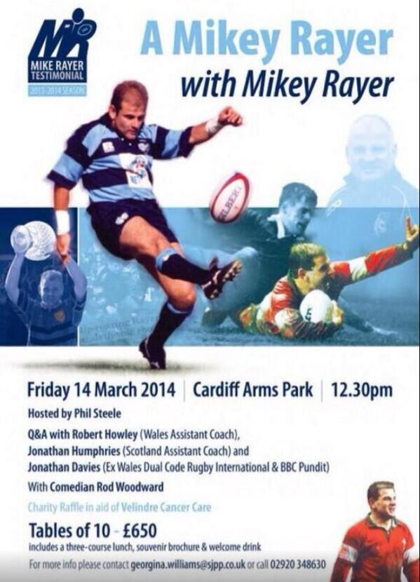 Looking fwd to @MRTestimonial at the CAP on Friday with the boys! Legend of a Coach, Player and Bloke!! #MikeyRayer http://t.co/mJOJjImJuD