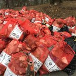 Wow! Check out all the trash volunteers collected on Saturday. This was found in Fourche Creek. #ARnews http://t.co/Vxy7SvYR8T