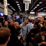 .@SHAQ is walking the floor at the SXSW trade show, trying not to step on geeks #wunreports #@wunderman http://t.co/c87Axycy5C