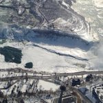 RT @flyGHA: The view of Niagara Falls this morning. American Falls mostly frozen over. #hamont http://t.co/AODwt3BJk3
