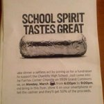 Chs history club fundraiser tomorrow at the Fairfax corner chipotle from 6-9pm, show them this & 50% goes to the club http://t.co/6LxVYiiNmz