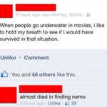 RT @BirthdayFreebie: Almost died in Finding Nemo... http://t.co/NAyPWYW7KZ