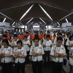 RT @ANCALERTS: PHOTO via Reuters: Multi-religion mass prayers for passengers of Malaysia Airlines Flight MH370 at KL Intl Airport http://t.co/ezMP6nl8ts