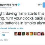 Twitter users were quick to point out the error in Rob Ford's Daylight Savings advice  http://t.co/oSFs7hXLYv http://t.co/El2vQPKS6M