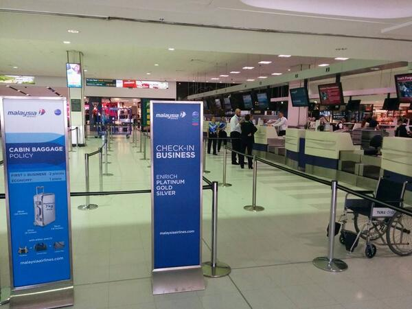 The importance of brand trust & values. Malaysia Airlines queue for check in empty 1.5hrs before the flight to KL http://t.co/9MStJ66YeW