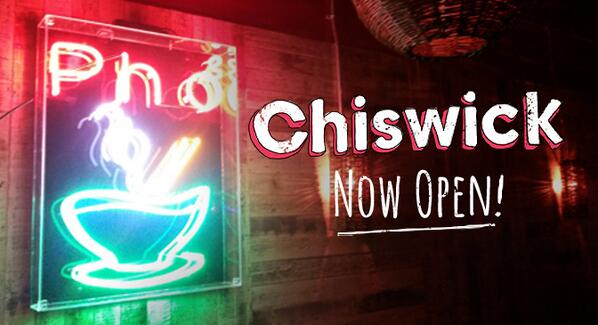Pho Chiswick now open! We're doing one more day of 50% off food (lunch & dinner!). #phosho http://t.co/gyiOGMqo8z