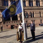 Lord Mayor of #Chester reading the Royal Affirmation prior to raising the Flag on #CommonwealthDay http://t.co/kQR5AalcdH