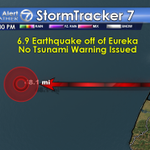6.9 Magnitude earthquake registered 48 miles off the coast of Eureka, no tsunami warning issued http://t.co/F13056vZEf