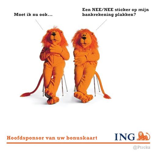 #ING-haker. Hoofdsponsor van uw bonuskaart. http://t.co/rer7WVl46u