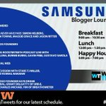 Schedule is up! Be sure to stop in for an awesome #SXSW in the #SamsungSXSW Blogger Lounge.