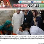 RT @BBhuttoZardari: RT @vajeesh: @BBhuttoZardari visits at Civil Hospital in Mithi #Thar http://t.co/lt3ky0uVsd