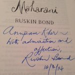 My prized possession. Autographed copy of MAHARANI by Mr. Ruskin Bond.:) #TheSchoolOfLife #LifeCoaching #Mussorie