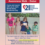 RT @All4_Down: Hello #Dubai - our World Down Syndrome Day walk ad in @7DAYSUAE today, p.10. Thank you! 22 March is the date to mark. http://t.co/CrkNnnS49W