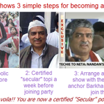 "How to become a ""secular"" politician in India? Nandan Nilekani demonstrates in 3 easy steps -> http://t.co/plfTKWR1sR"