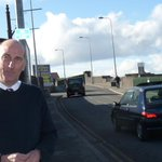 Bob on the #Hoole Bridge issue #Chester http://t.co/kOjoaOrYXV http://t.co/xGvuZLF5qp