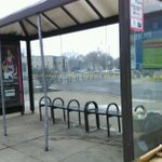 Aftermath of #12corners accident this weekend. #ROC @RGRTA #BusShelter took a hit. #BrokenGlass still everywhere. http://t.co/5ChKZLdAJ3