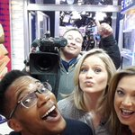 Woo! RT @GMA #GMALive from the #SocialSquare! Good morning, @Ginger_Zee, @sarahaines, @tvcameraguy, and @kcifeanyi! http://t.co/q7vfRyybBN