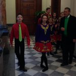 Irish Dancers warming up for for City Hall presser on St. Pats Parade. #ROC http://t.co/JpMIPMUOX0