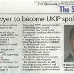 Article in the recent #Chester standard on @Steven_Woolfe becoming #UKIPs economic spokesman. http://t.co/x349ZNqIBm